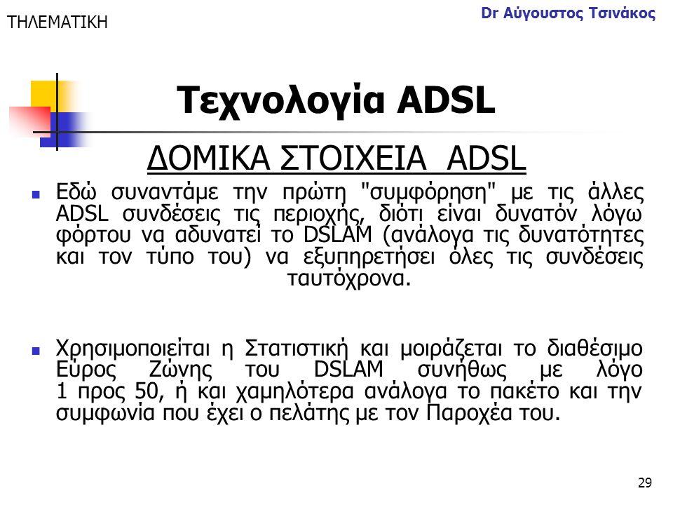 29 Dr Αύγουστος Τσινάκος ΔΟΜΙΚΑ ΣΤΟΙΧΕΙΑ ΑDSL  Εδώ συναντάμε την πρώτη