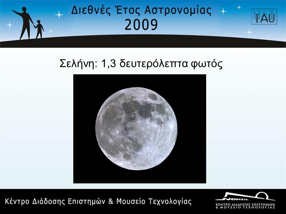 Σελήνη: 1,3 δευτερόλεπτα φωτός