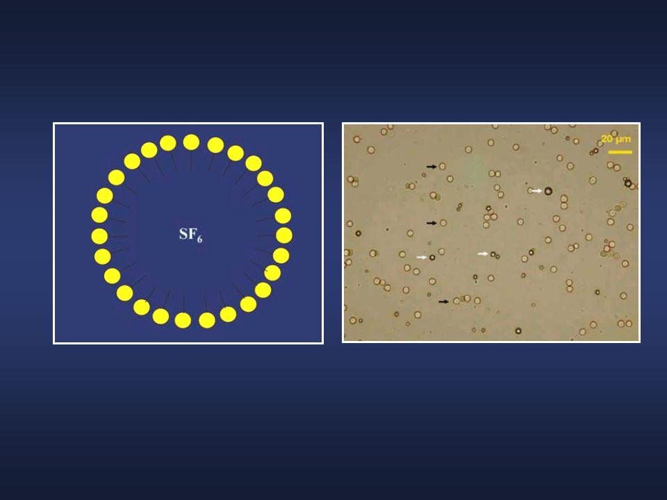 Χαρακτηριστικά  Το απεικονιστικό αποτέλεσμα εξαρτάται από τη συμπιεστότητα των αερίων  Οι επικαλύψεις βελτιώνουν τη διατήρηση των φυσαλίδων του αερίου (σταθερότητα) και την ελαστικότητά τους (ακουστική ανάκλαση)  Η σταθερότητα της φυσαλίδας είναι ανάλογη του πάχους της επικάλυψης της  Η δράση της επικάλυψης είναι αντιστρόφως ανάλογη του μεγέθους της φυσαλίδας