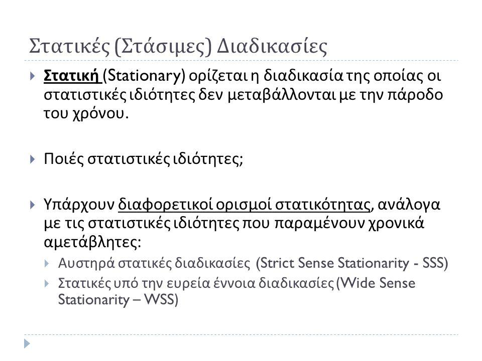 Παράδειγμα : Διαμόρφωση εύρους (3)  Αυτοσυσχέτιση :  Και