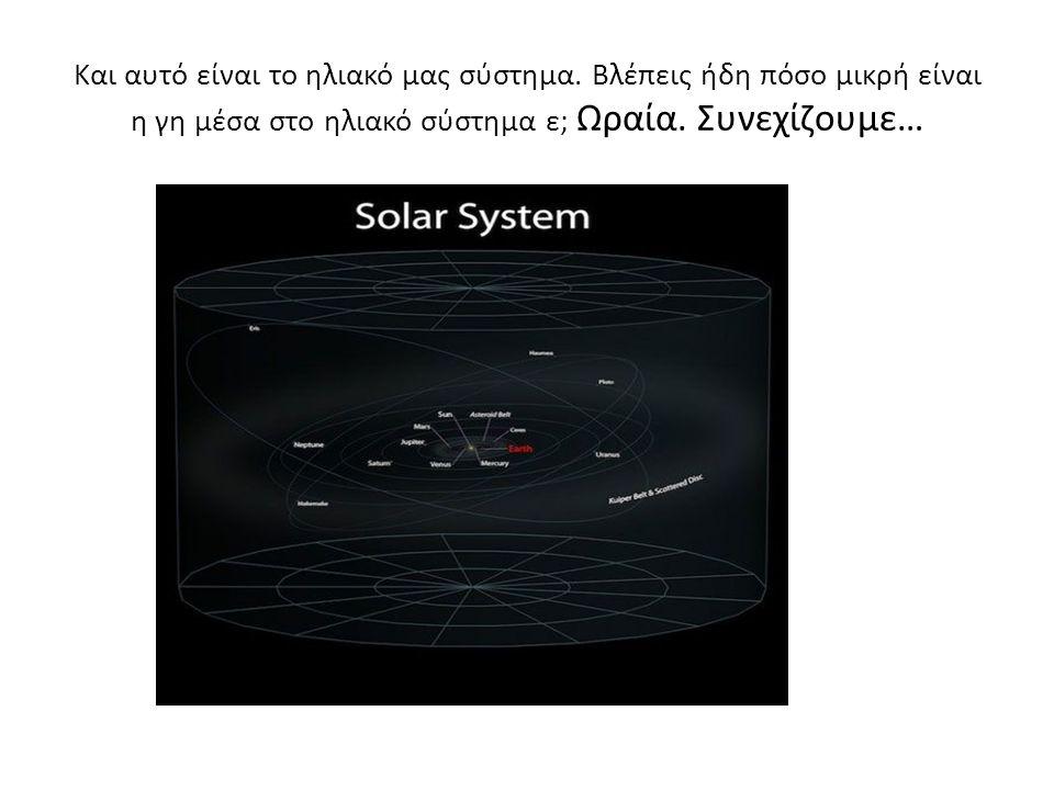 Και αυτό είναι το ηλιακό μας σύστημα.
