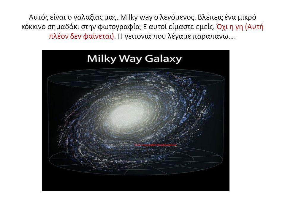 Αυτός είναι ο γαλαξίας μας. Milky way ο λεγόμενος.