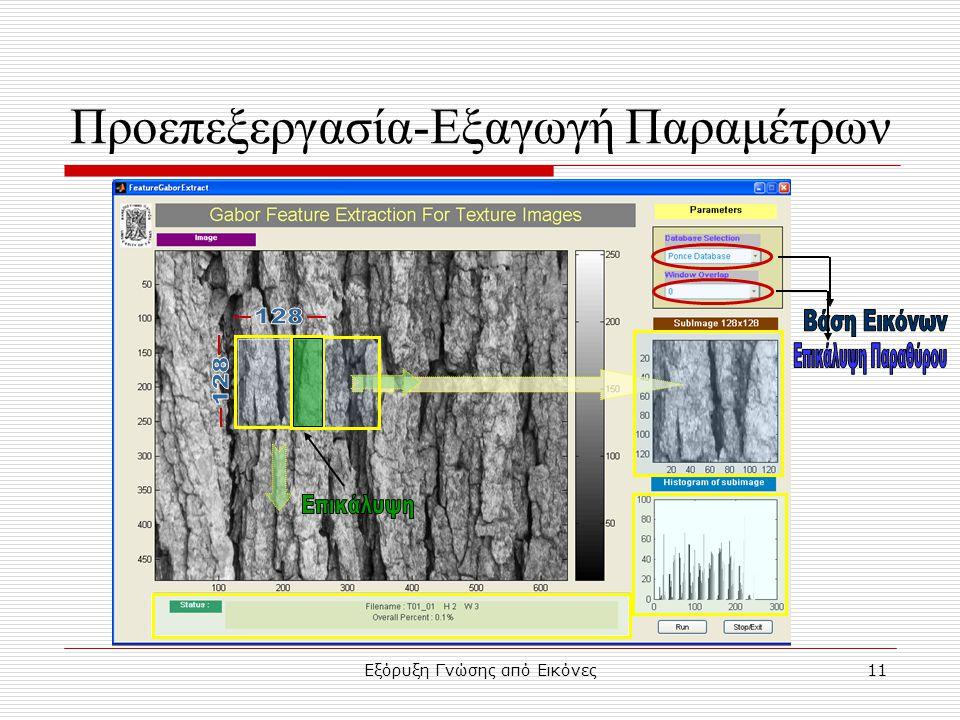 Εξόρυξη Γνώσης από Εικόνες11 Προεπεξεργασία-Εξαγωγή Παραμέτρων