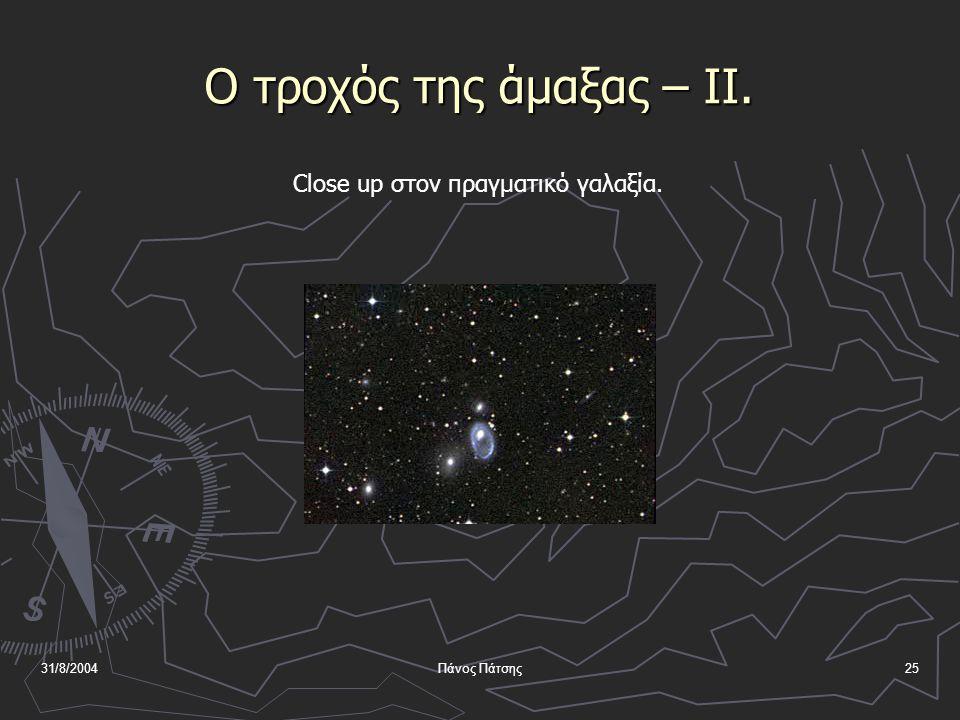 31/8/2004Πάνος Πάτσης24 Ο τροχός της άμαξας Ο γαλαξίας Cartwheel βρίσκεται σε απόσταση 500000 ly.