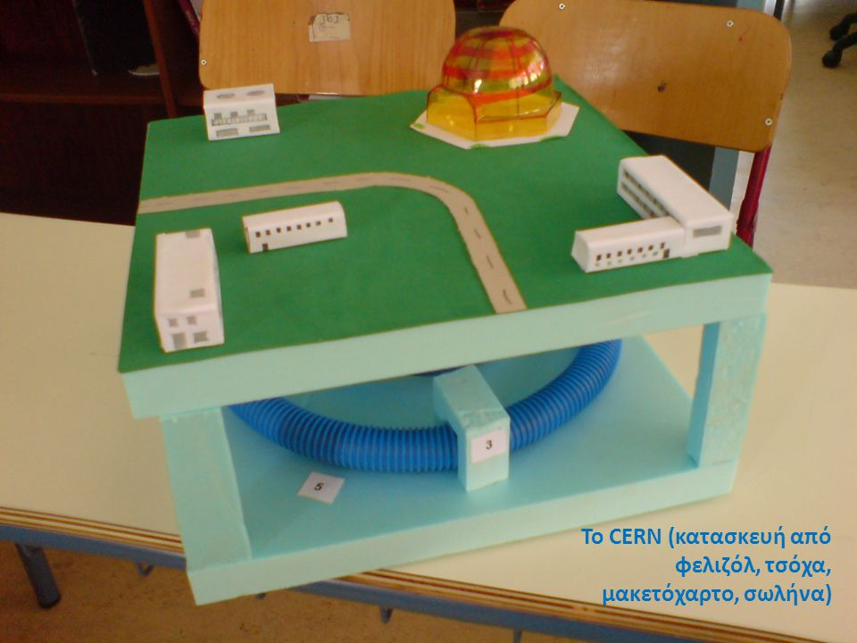 Το CERN (κατασκευή από φελιζόλ, τσόχα, μακετόχαρτο, σωλήνα)