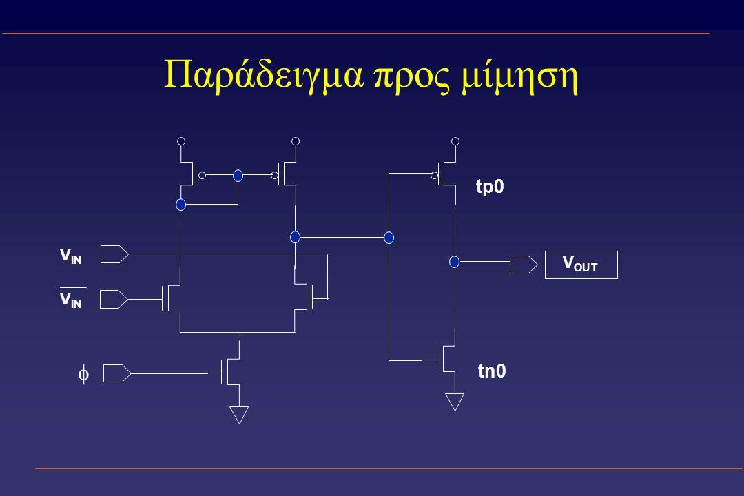 Παράδειγμα προς μίμηση V OUT tp0 tn0  V IN