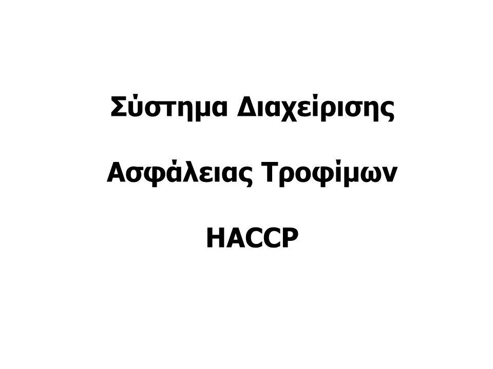 Σύστημα Διαχείρισης Ασφάλειας Τροφίμων HACCP