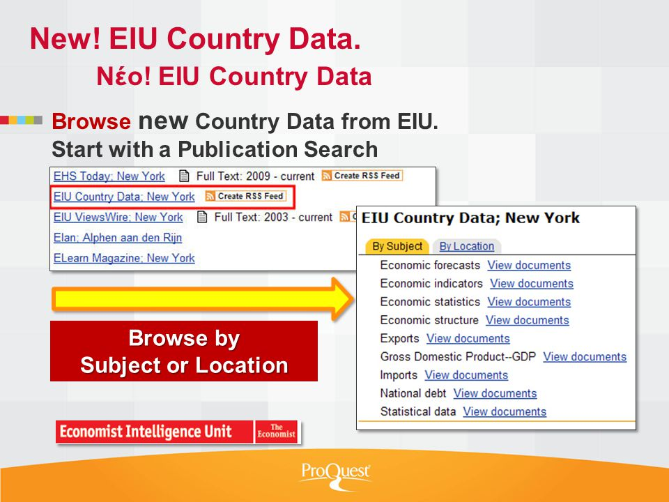 Browse new Country Data from EIU.
