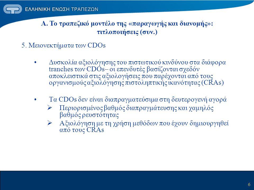 7 Β.Η εμφάνιση των τραπεζικών «επενδυτικών εταιρειών ειδικού σκοπού» 1.