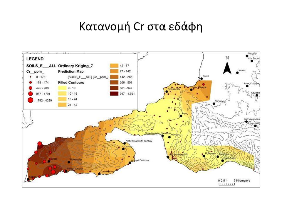 Κατανομή Cr στα εδάφη