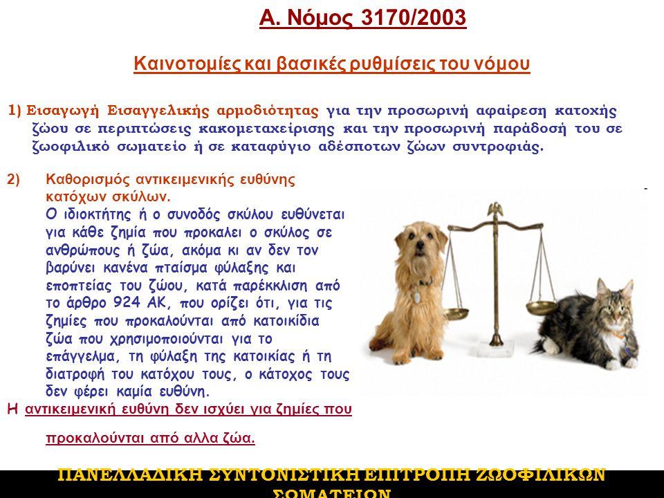 Επιτρέπεται σε κάθε πολυκατοικία, ανεξάρτητα από το τι προβλέπει ο κανονισμός της, η διατήρηση 1 σκύλου και 1 γάτας ή 2 σκύλων ή 2 γάτων, εφόσον τα ζώα αυτά μένουν στο ίδιο διαμέρισμα με τον ιδιοκτήτη τους και δεν παραμένουν μόνιμα στις βεράντες..
