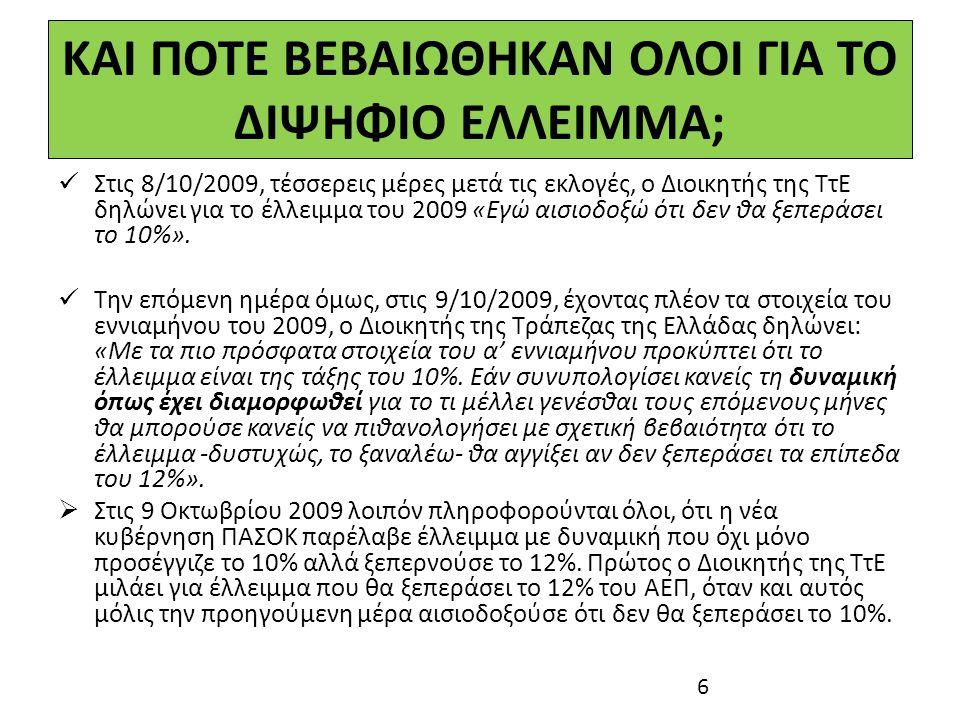 ΠΟΙΑ ΕΙΝΑΙ Η ΑΛΗΘΕΙΑ Πολλοί έλεγαν ότι η Ελλάδα μπορούσε να δανειστεί 25 δισ.
