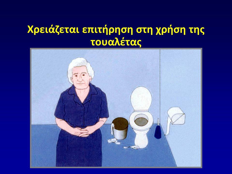 Χρειάζεται επιτήρηση στη χρήση της τουαλέτας  Copyright © 1999 Barry Reisberg, M.D.