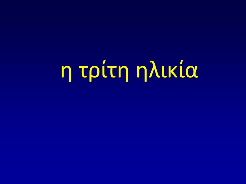 18% - 20% του Ελληνικού πληθυσμού είναι άνω των 65 ετών 2030: 25% - 28% περίπου Οι ηλικιωμένοι είναι η γρηγορότερα αναπτυσσόμενη ηλικιακή ομάδα