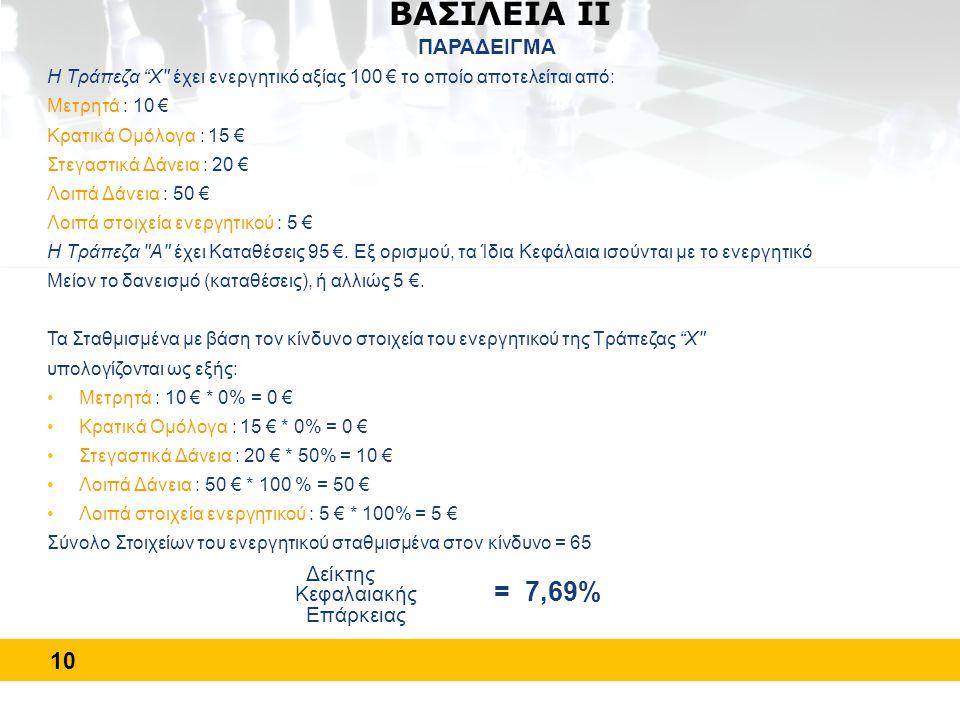 """10 ΒΑΣΙΛΕΙΑ ΙΙ ΠΑΡΑΔΕΙΓΜΑ Η Τράπεζα """"X"""