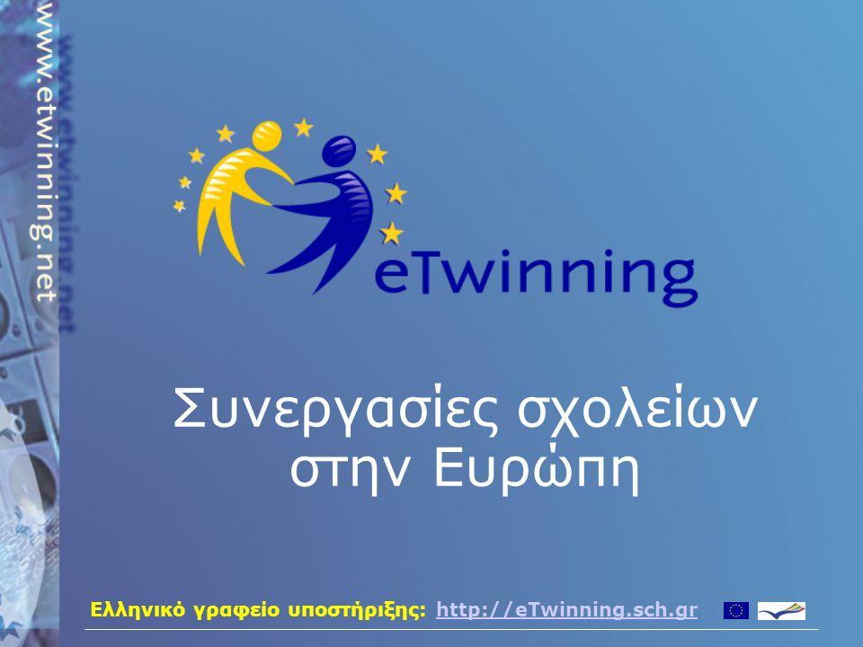 Ελληνικό γραφείο υποστήριξης: http://eTwinning.sch.grhttp://eTwinning.sch.gr Συνεργασίες σχολείων στην Ευρώπη