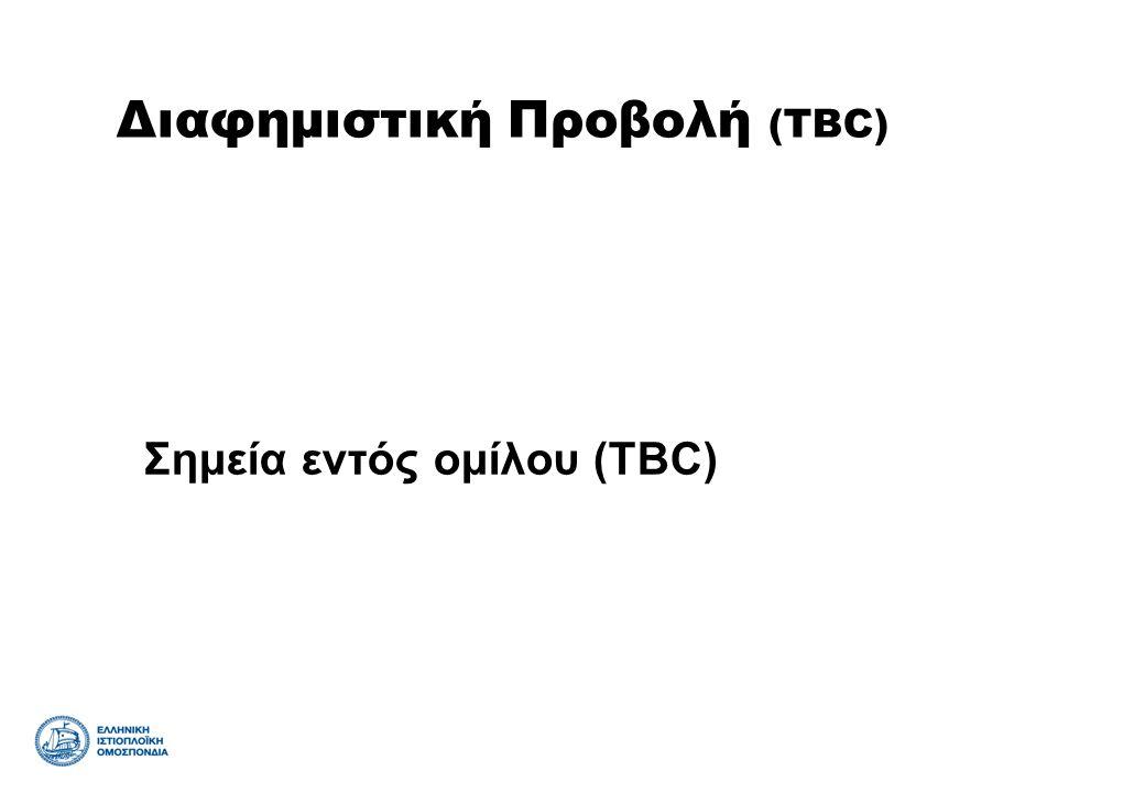 Σημεία εντός ομίλου (TBC) Διαφημιστική Προβολή (TBC)
