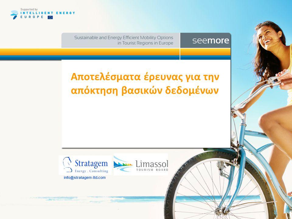 www.seemore-project.eu Έρευνα •Η έρευνα διεξήχθη το καλοκαίρι στην πόλη μας υπό την μορφή ερωτηματολογίων σε δύο τομείς.