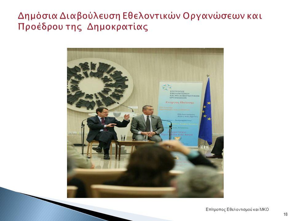 Επίτροπος Εθελοντισμού και ΜΚΟ 18