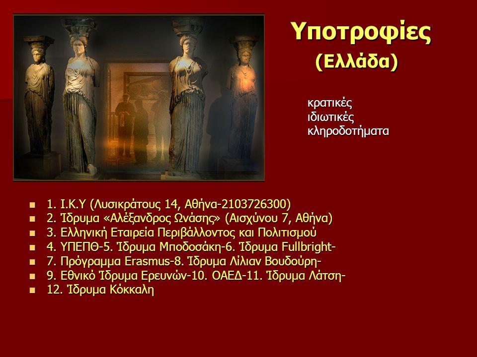 Υποτροφίες (Ελλάδα) Υποτροφίες (Ελλάδα)  κρατικές  ιδιωτικές  κληροδοτήματα  1.
