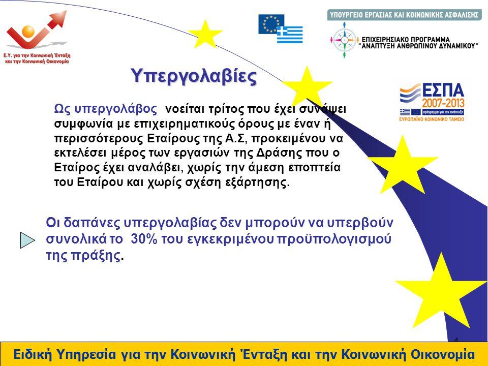 15 Ειδική Υπηρεσία για την Κοινωνική Ένταξη και την Κοινωνική Οικονομία Ευχαριστώ για την προσοχή σας Μαρία Ανδρέου ΕΥΚΕΚΟ Τηλ: 210 5271311 E-mail: andreou@mou.gr