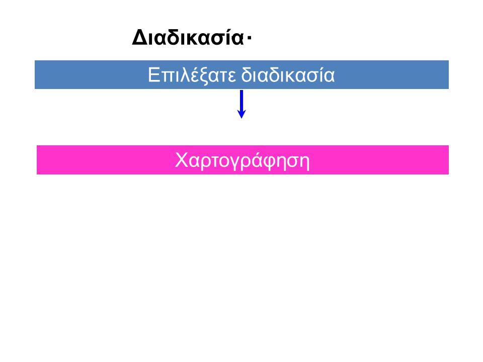 … Επιλέξατε διαδικασία Χαρτογράφηση Διαδικασία