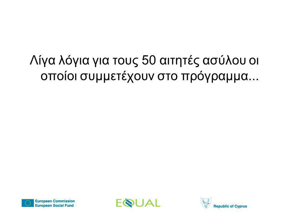 Λίγα λόγια για τους 50 αιτητές ασύλου οι οποίοι συμμετέχουν στο πρόγραμμα...