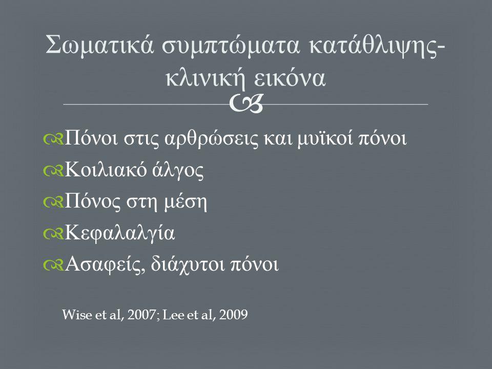   Απροθυμία γιατρών ΠΦΥ να συζητήσουν ψυχολογικά θέματα  Περιορισμένος χρόνος  Εστίαση στη σωματική νοσηρότητα  Διστακτικότητα ασθενών να ξεκινήσουν θεραπεία Alexopoulos, 2005