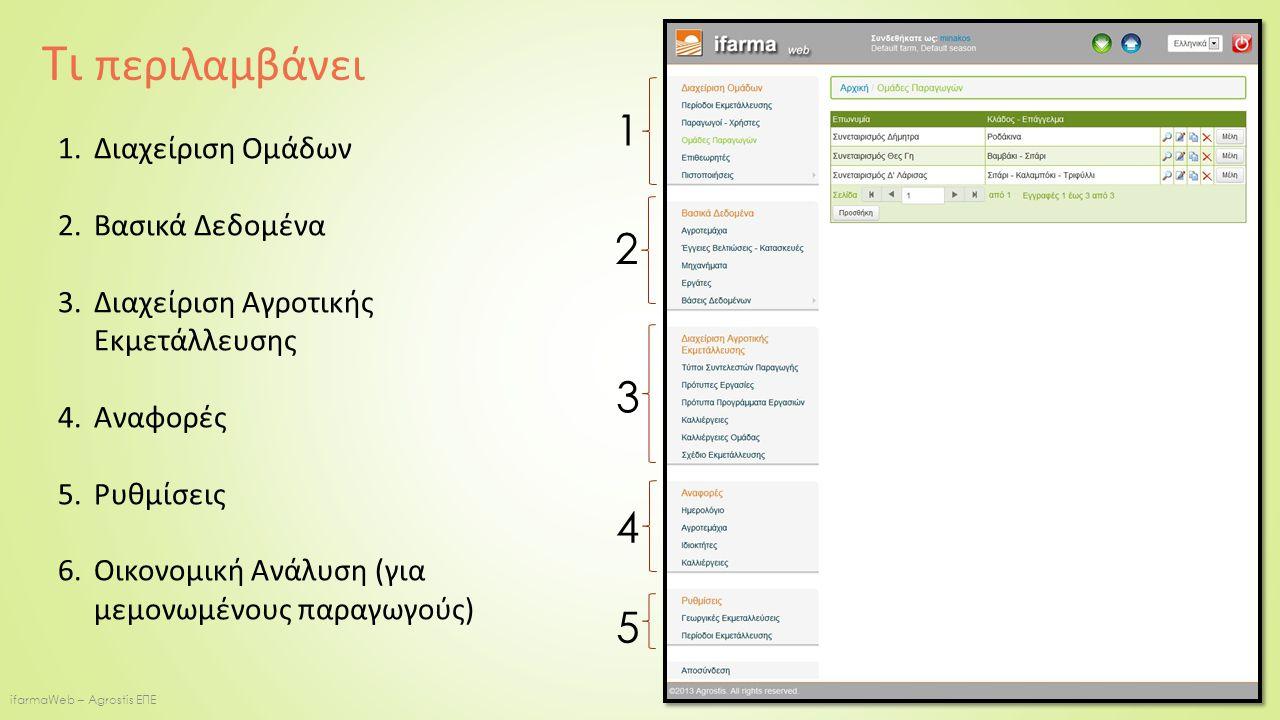 ifarmaWeb – Agrostis ΕΠΕ 1.