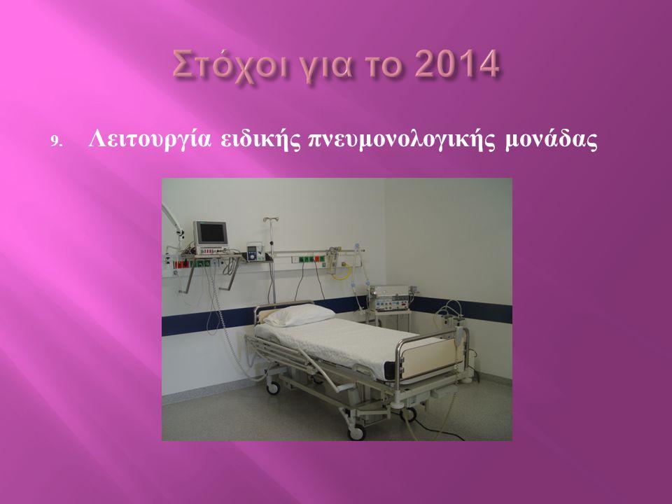 9. Λειτουργία ειδικής πνευμονολογικής μονάδας