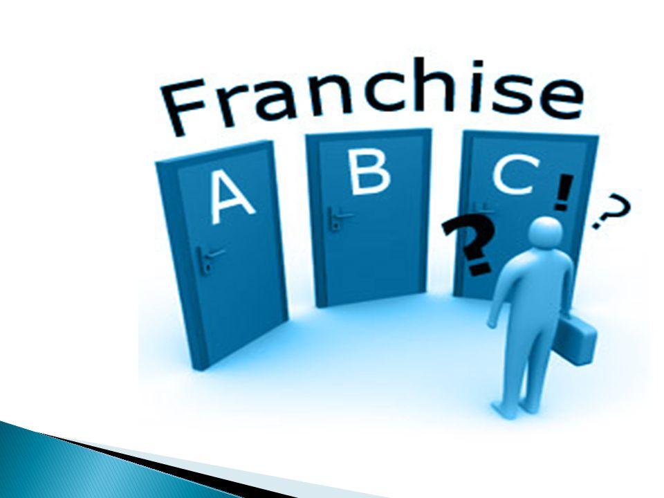 Τι είναι Franchise;(δικαιόχρηση) Franchise είναι μέθοδος ανάπτυξης μιας επιχείρησης κατα την οποία η εταιρεία(franchisor) παρέχει στους επενδυτές(franchisees),το σύνολο των δικαιωμάτων βιομηχανικής και πνευματικής ιδιοκτησίας καθώς και την τεχνογνωσία προκειμένου αυτοί να ιδρύσουν την δική τους επιχείρηση πώλησης των προιόντων ή υπηρεσιών της εταιρείας.