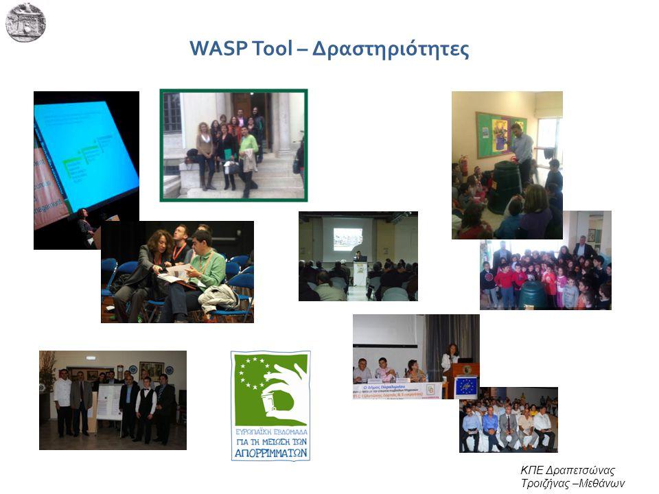 WASP Tool – Δραστηριότητες ΚΠΕ Δραπετσώνας Τροιζήνας –Μεθάνων