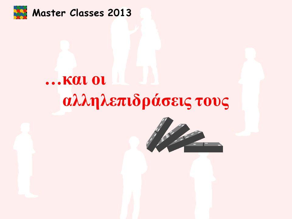 Master Classes 2013 …και οι αλληλεπιδράσεις τους