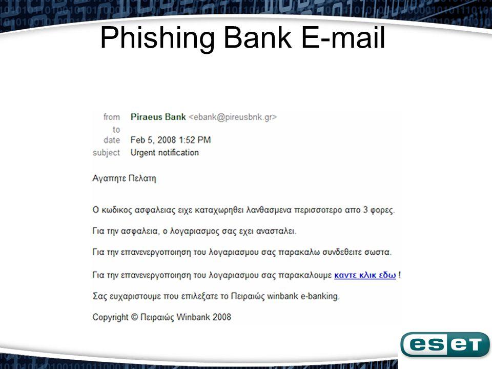 Phishing Bank E-mail