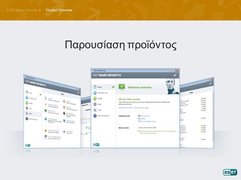ESET Smart Security 6Product Overview Παρουσίαση προϊόντος