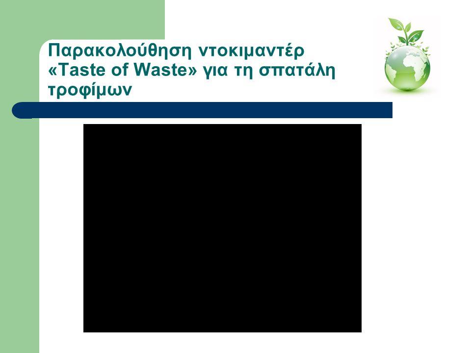 Παρακολούθηση ντοκιμαντέρ «Taste of Waste» για τη σπατάλη τροφίμων