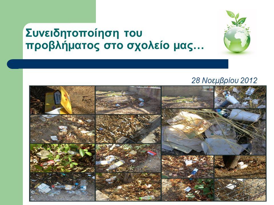 Συνειδητοποίηση του προβλήματος στο σχολείο μας… 28 Νοεμβρίου 2012