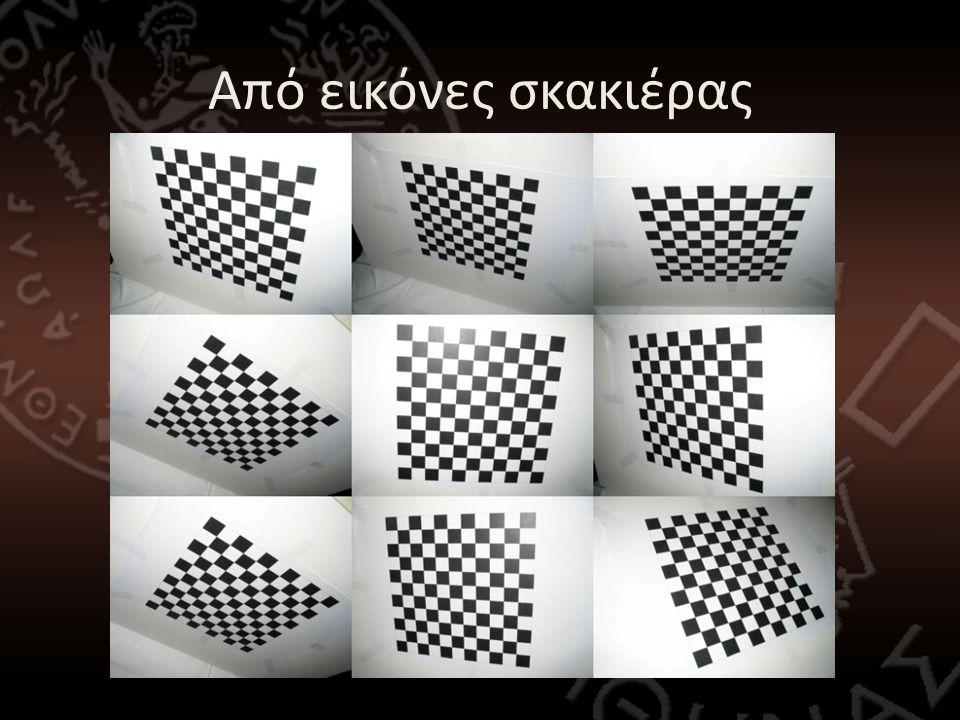 Επιπολική γεωμετρία -> Εύρεση ομολογιών σκακιέρας • Η ανάποδη διαδικασία μπορεί να βοηθήσει στην εύρεση των ομολογιών μεταξύ των κόμβων της σκακιέρας • Αφαίρεση του κόκκινου τετραγώνου