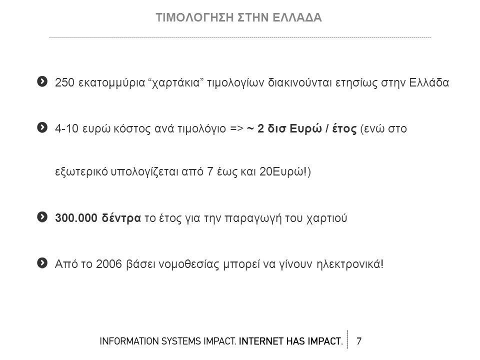 Αλυσίδα λιανεμπορίου εξοικονόμησε πάνω από 2 εκ ευρώ το χρόνο με μόνο το 60%-70% των τιμολογίων που παραλαμβάνει ηλεκτρονικά Εταιρία στο χώρο των μεταφορών εξοικονόμησε από την έκδοση μόνο 2.000 το μήνα πάνω από 150.000 ευρώ το χρόνο ΠΡΑΚΤΙΚΑ ΟΦΕΛΗ 18