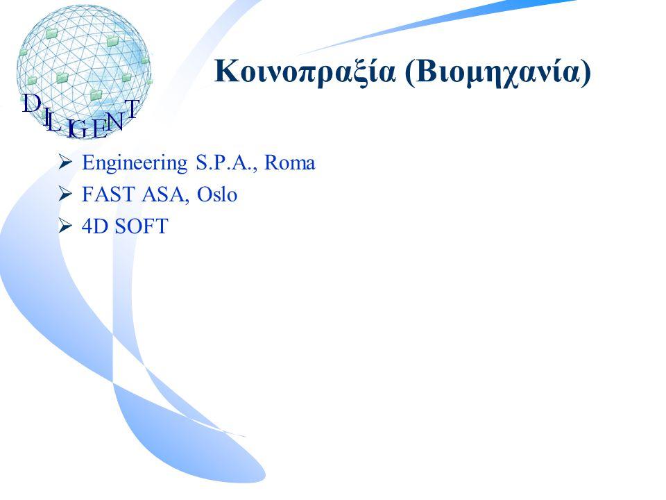 Κοινοπραξία (Βιομηχανία)  Engineering S.P.A., Roma  FAST ASA, Oslo  4D SOFT