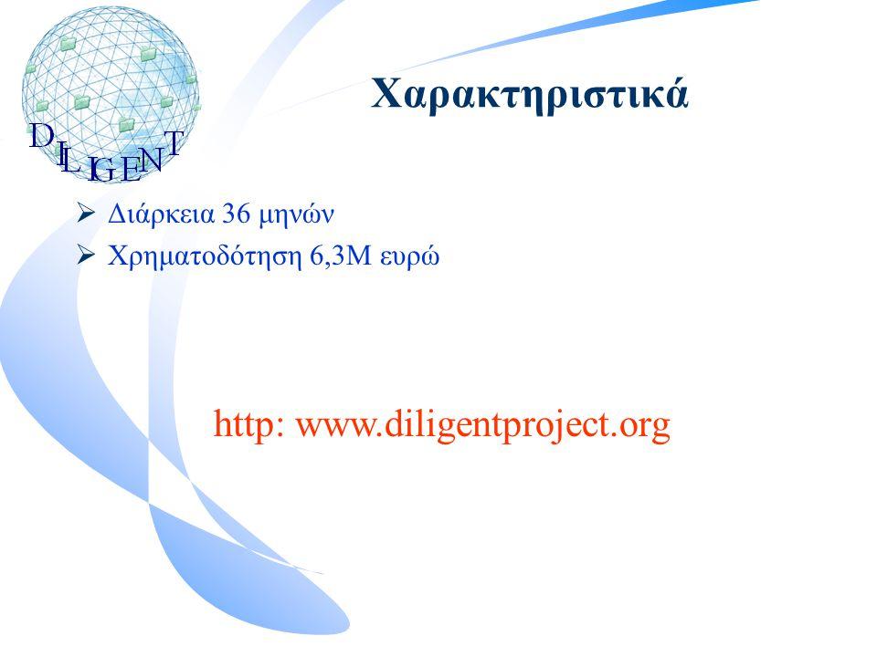 Χαρακτηριστικά  Διάρκεια 36 μηνών  Χρηματοδότηση 6,3Μ ευρώ http: www.diligentproject.org