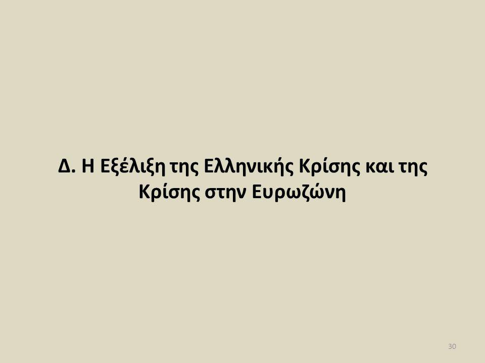 Δ. Η Εξέλιξη της Ελληνικής Κρίσης και της Κρίσης στην Ευρωζώνη 30