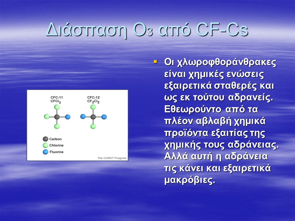 Φυσική παρασκευή και διάσπαση όζοντος στην ατμόσφαιρα Οι χημικές αντιδράσεις μέσω των οποίων περιγράφεται η παραγωγή του όζοντος είναι οι εξείς: Ο 2 +