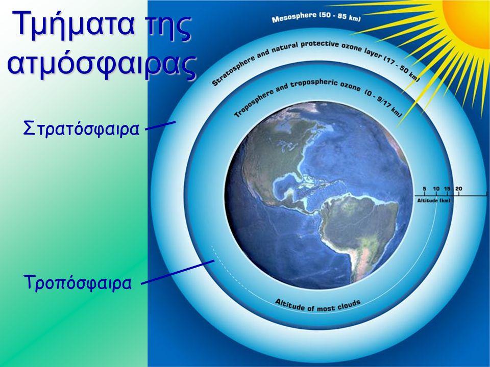 Η τρύπα του όζοντος  Μια εικόνα, από υπολογιστή, του νοτίου ημισφαιρίου που αποκαλύπτει την τρύπα του όζοντος πάνω από την Ανταρκτική.  Οι περιοχές