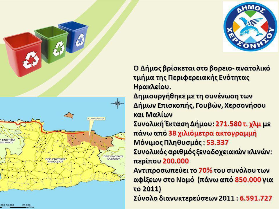 Ο Δήμος βρίσκεται στο βορειο- ανατολικό τμήμα της Περιφερειακής Ενότητας Ηρακλείου.