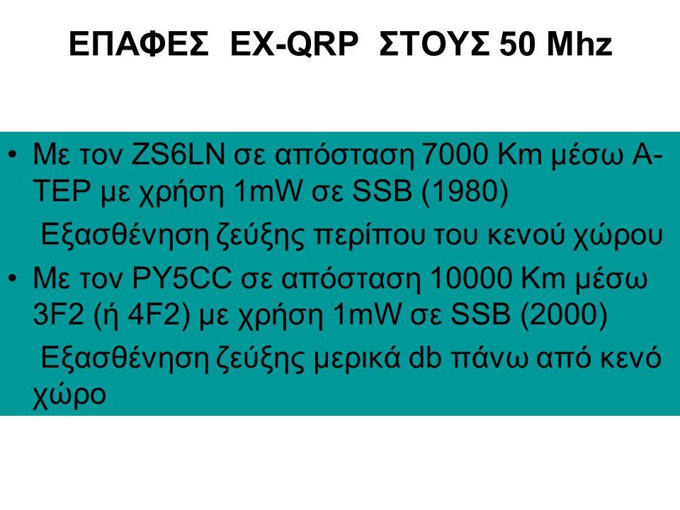 ΗΧΟΓΡΑΦΗΣΗ ΤΟΥ CE0Y/W7XU ΣΤΟΥΣ 50Mhz (2145z – 3 April 2001)