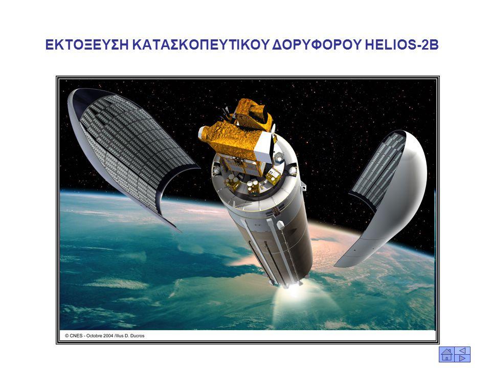 ΚΑΤΑΣΚΟΠΕΥΤΙΚΟΣ ΔΟΡΥΦΟΡΟΣ HELIOS-2B O Δορυφόρος αυτός, πέρα από τα πλεονεκτήματα που θα προσδώσει στις Γαλλικές Ένοπλες Δυνάμεις και τις υπηρεσίες πλη