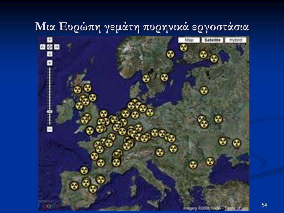 54 ΓΕΛ ΚΑΛΑΜΠΑΚΑΣ - ΒΑΣΙΛΕΙΟΣ ΠΑΠΠΑΣ Μια Ευρώπη γεμάτη πυρηνικά εργοστάσια