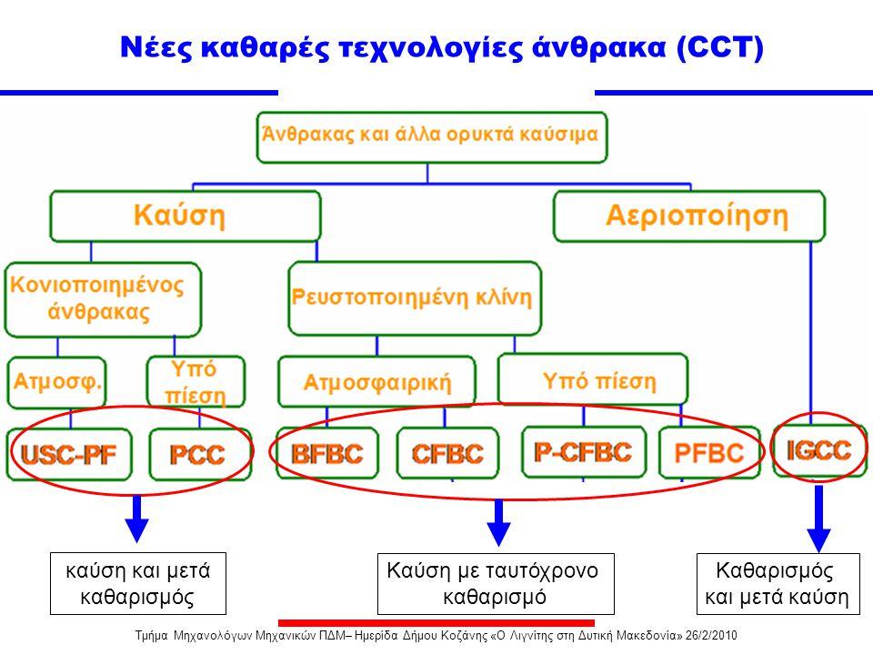 Πλεονεκτήματα υπερκρίσιμων μονάδων Μειωμένη κατανάλωση καυσίμου λόγω αυξημένης απόδοσης  Απόδοση (μικτή) ~40-41% για υπερκρίσιμες μονάδες (SC) με 24.7MPa/565 o C /593 o C, περίπου 2-3% υψηλότερη αυτής αντίστοιχων υποκρίσιμων μονάδων (38%) με16.7MPa/537 o C /537 o C (Λεκανοπέδιο).