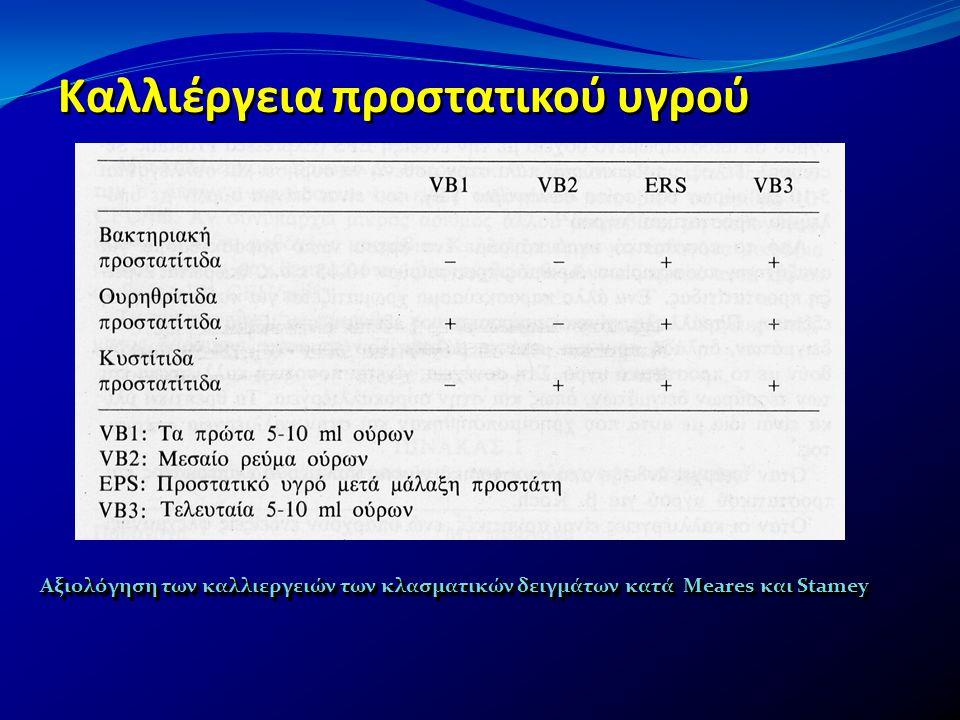 Καλλιέργεια προστατικού υγρού Αξιολόγηση των καλλιεργειών των κλασματικών δειγμάτων κατά Meares και Stamey